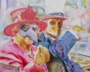 Big Money Bauta by Cornelia Es Said, Acrylic on Canvas, 100x80 cm