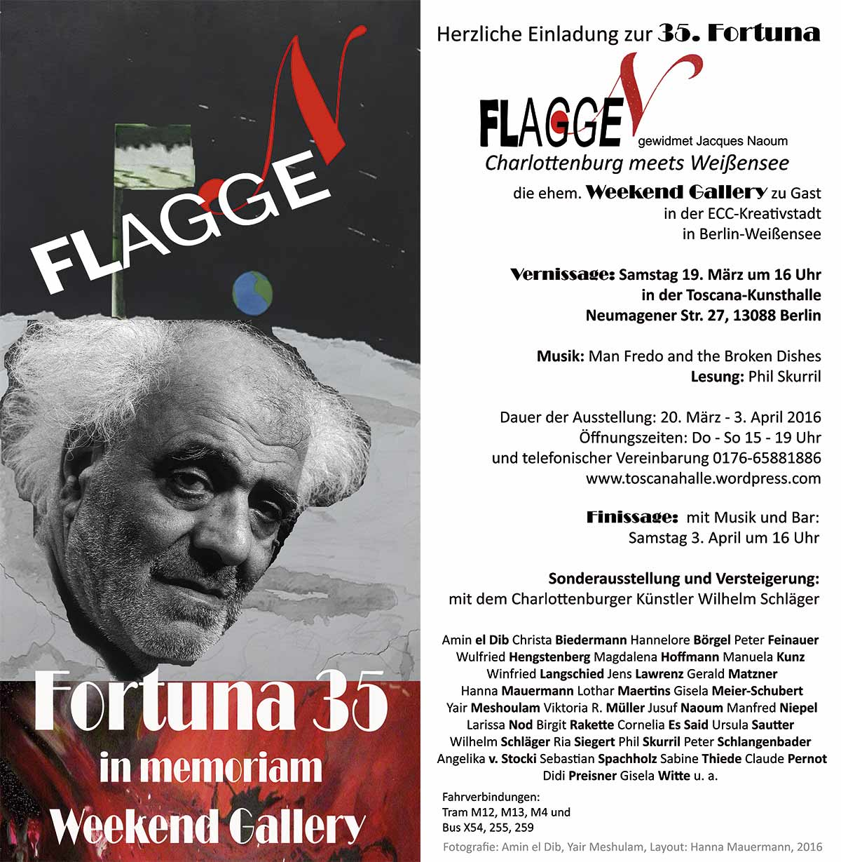 Ausstellung: FLAGGEN – in memoriam Weekend Gallery