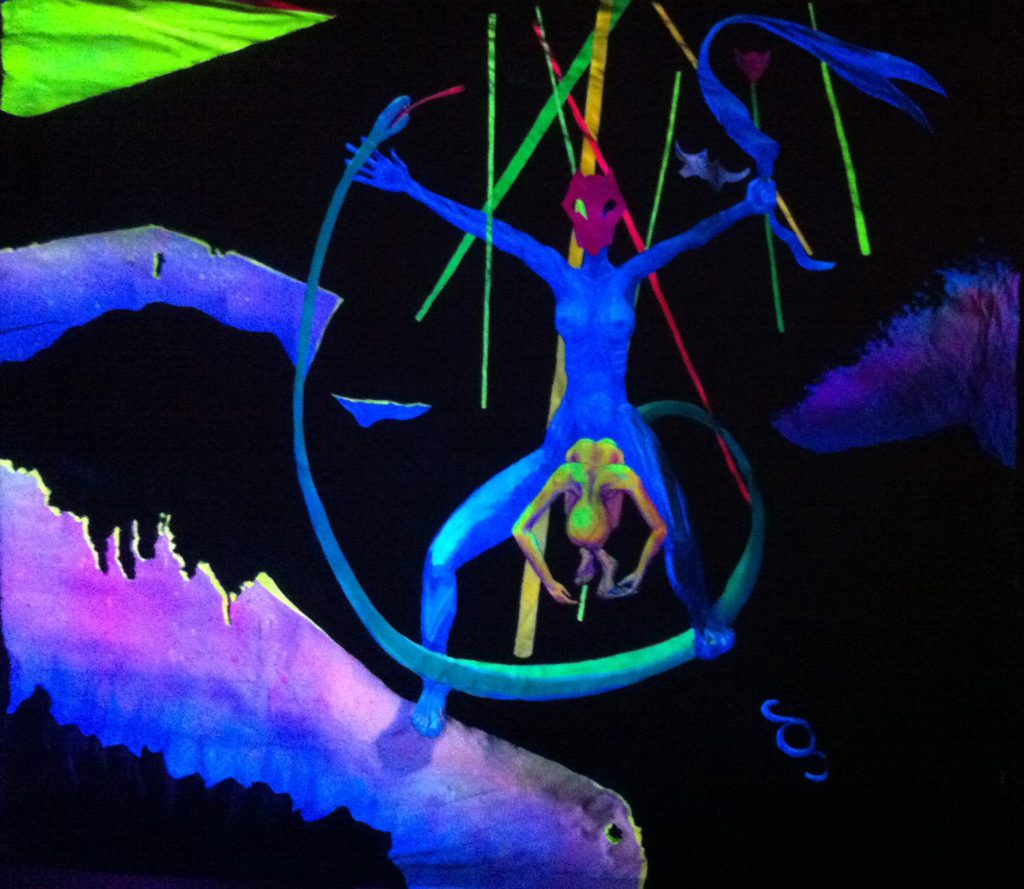 Ausstellung: UV-Paintings at Galerie Angenehm
