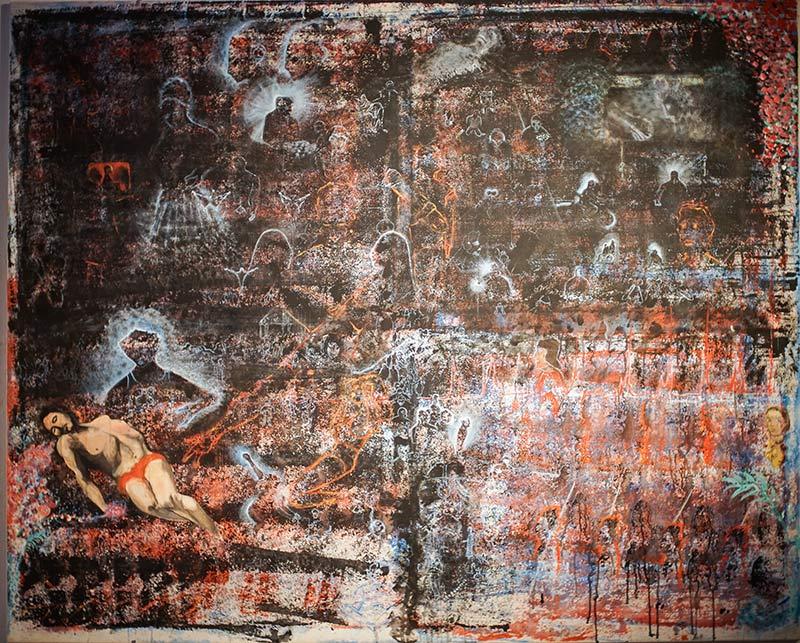 """Fulya Erdem – Gemälde und Installation """"Taube"""""""