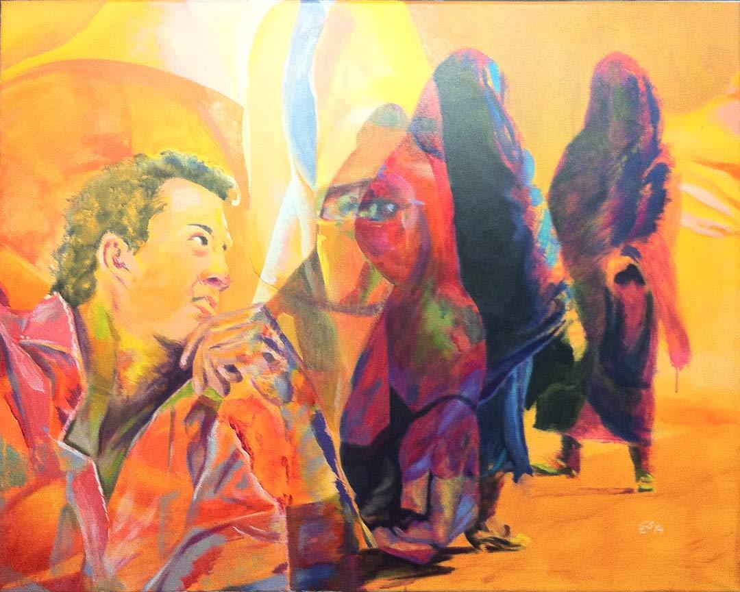 Desertflower moderne Kunst in Acryl | Modern Art Acrylic by cornelia es said