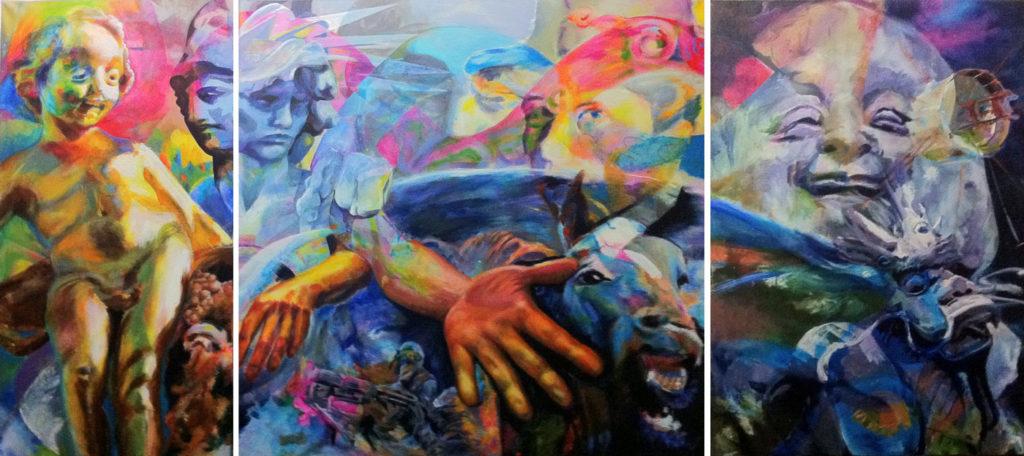 Supergedenkjahr Triptychon von Cornelia Es Said