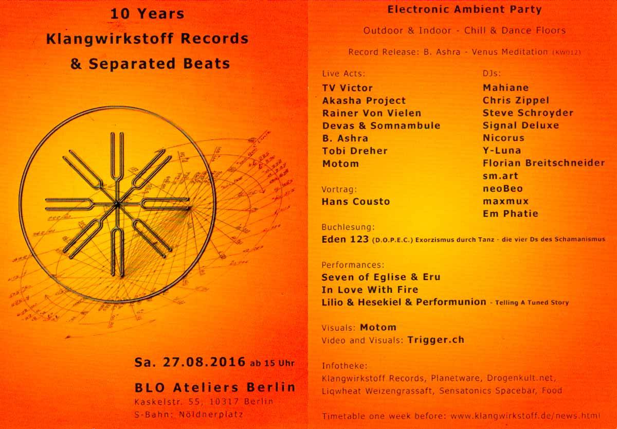 10 Jahre Klangwirkstoff Jubiläumsparty