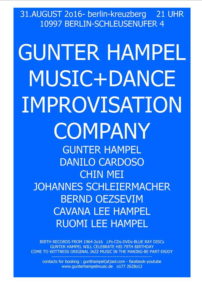Gunter Hampel Celebration 2016 @ JK