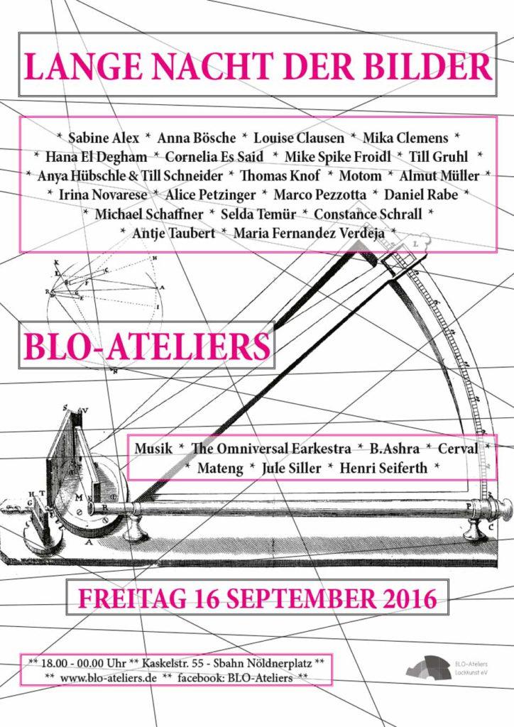 Ausstellung zur Langen Nacht der Bilder 2016 in den BLO-Ateliers