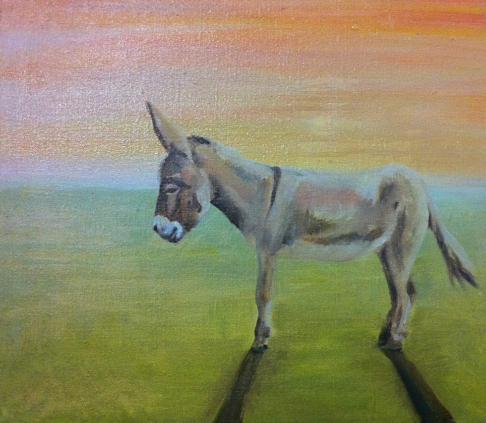 Eselchen Ölgemälde | Donkey oil painting by Cornelia Es Said