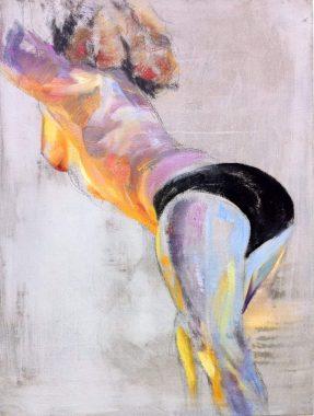 Cornelia Es Said - Aphrodite's Arsch, Öl auf Leinwand 60x80 cm