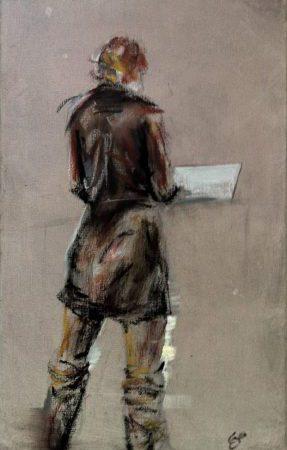 modern-woman-standing_contemporary-oilpainting (vorschaubild)