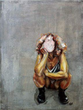 Cornelia Es Said - Aphrodite takes a piss, Öl auf Leinwand 60x80 cm
