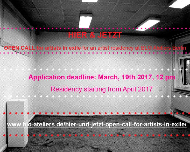 Hier & Jetzt: Residenzprojekt für Exilkünstler*innen – apply now!