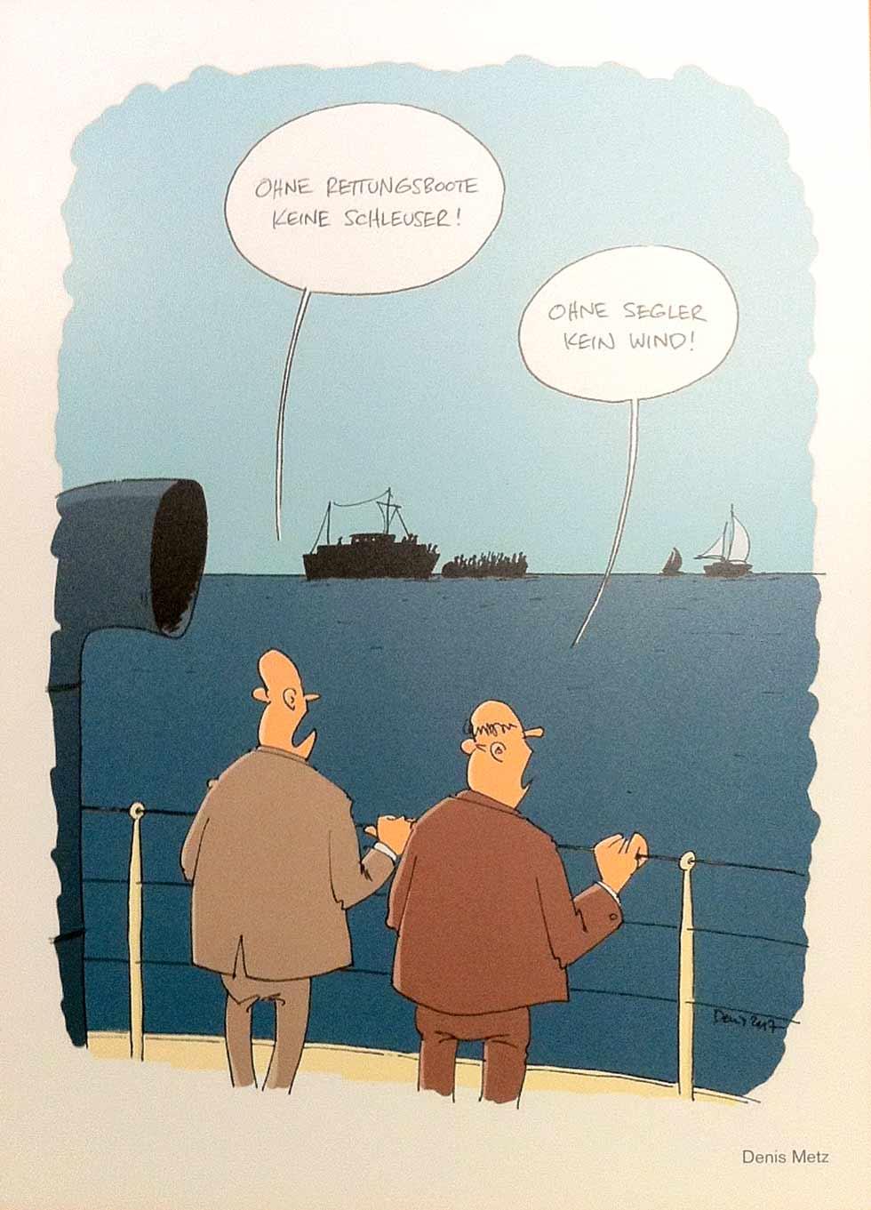 caricatura7-denis_metz-ohne-segler-kein-wind