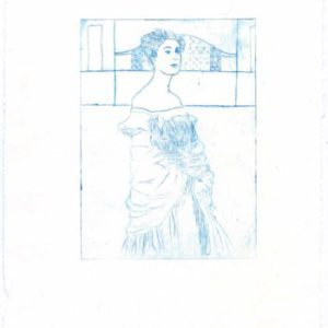 Kaltnadel-Radierung nach Gustav Klimt