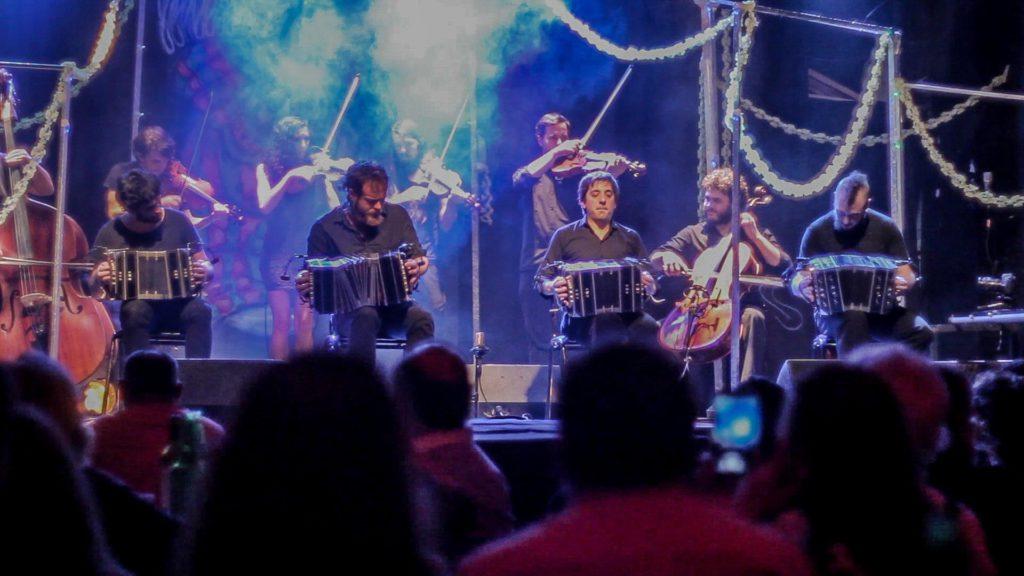 Spontanes Konzert des Tango-Orchestra Ciudad Baigón am 6. Oktober im Supamolly / Berlin