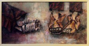 Conchi Avila: El cansancio del camino, Öl / Leinwand