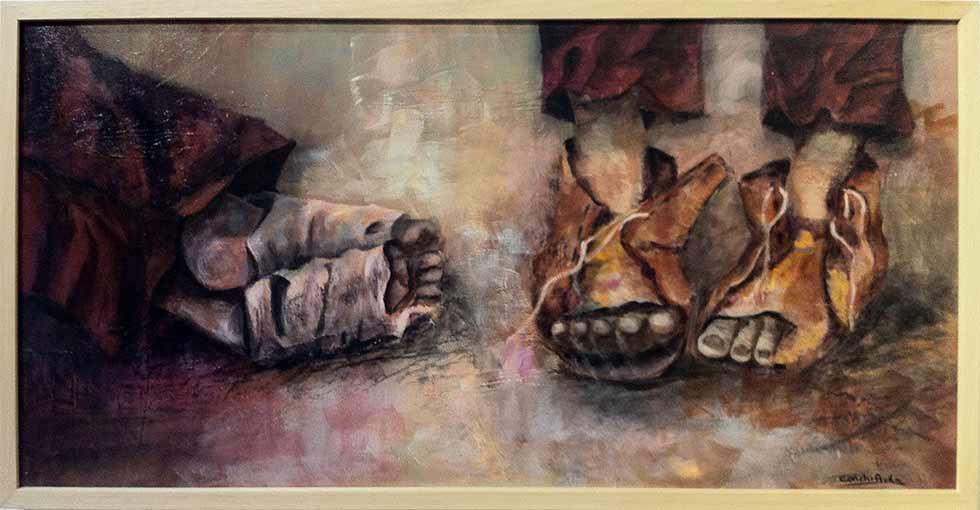 paises del mundo por la paz y refugios – Ausstellung in Sevilla
