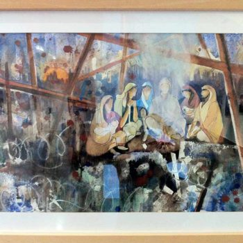 Elisa J. Canas: Los muros invisible, Aquarell
