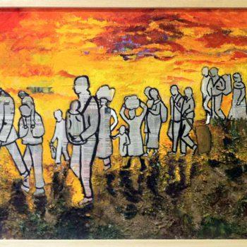 Teresa Moreno: En busco de la paz, Collage