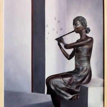 Reyes Sanchez Fransesch: Musica por la paz, Öl / Leinwand