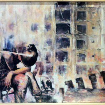 Ana Maria Gonzales: Refuzgiados II, Öl / Leinwand