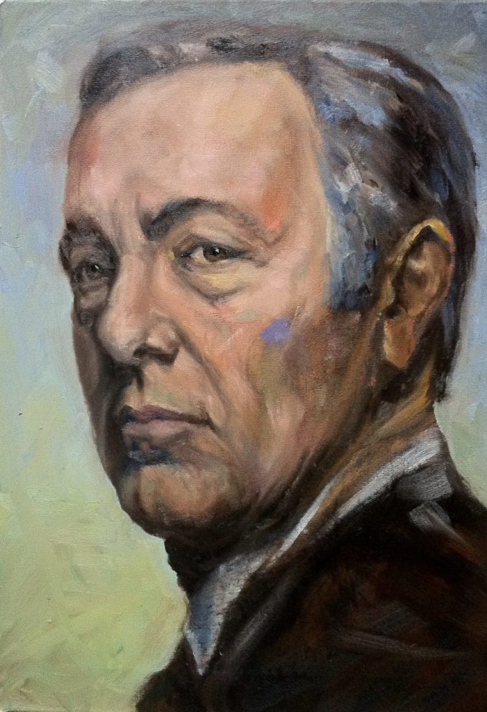 kevin spacey portrait oilpainting by cornelia es said