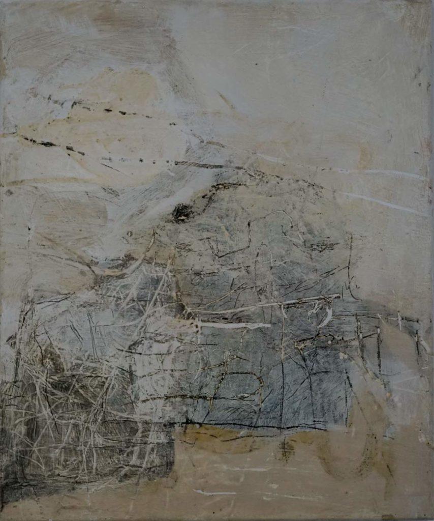 Constance Schrall - Geflüster Enkaustik 50x60cm