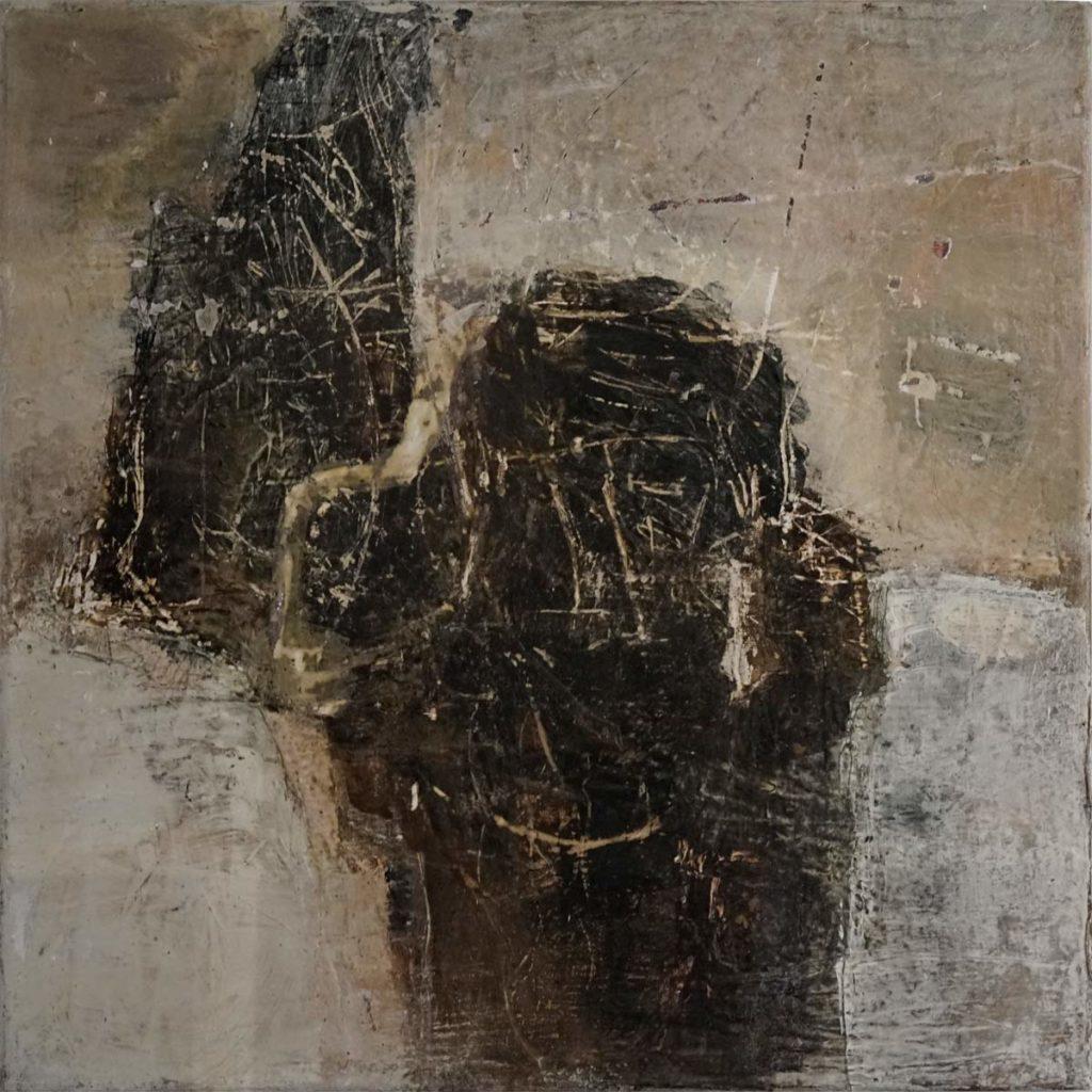Constance Schrall - Prometheus. Enkaustik 50x50cm