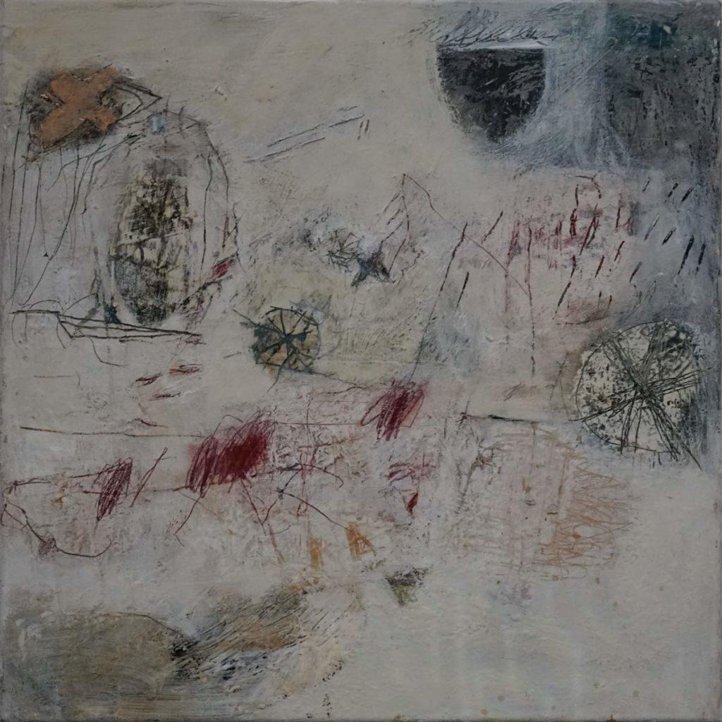 Constance Schrall - Unterwegs. Enkaustik 50x50cm