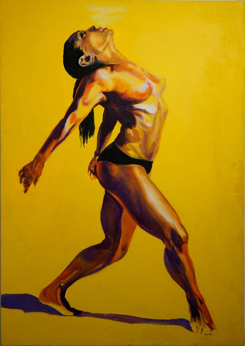 Cornelia Es Said - breathe, Öl auf Leinwand, 83x118cm