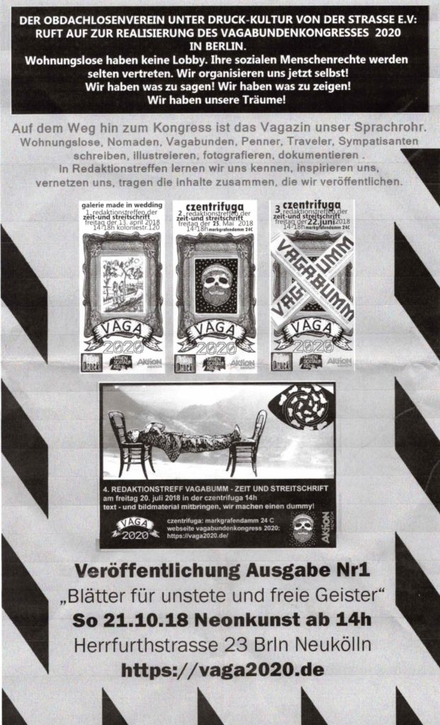 Vagabundenkongress Flyer