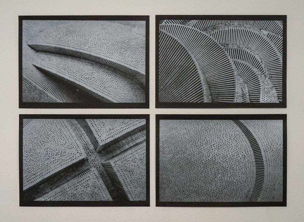 Marko Krojac - Siebdruck Silber, 4x 30x21 cn