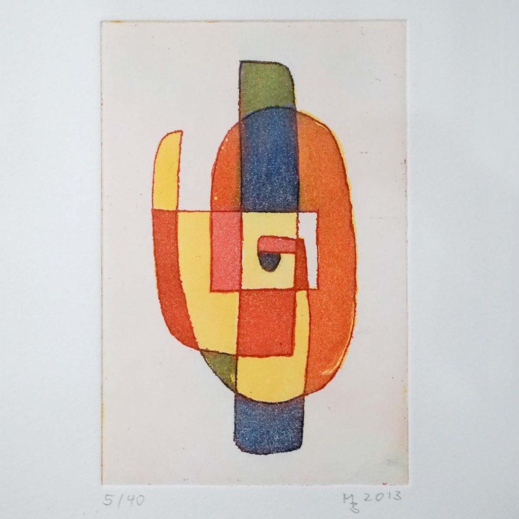 Mathias Bartoszewski - Farbradierung Nr. 1, ca. 30x36 cm