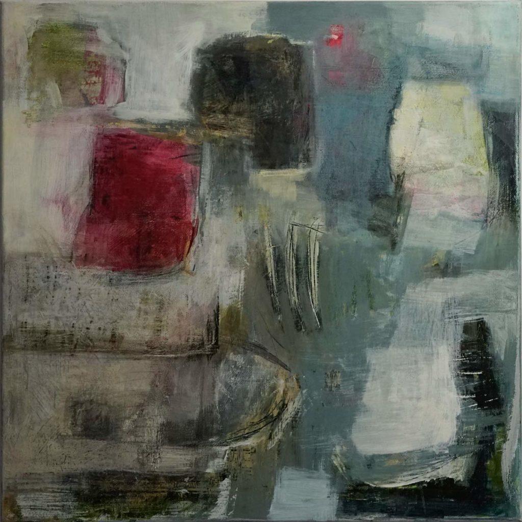 Mika Clemens - Abstracts Triptych part 3 Mischtechnik 50x50cm
