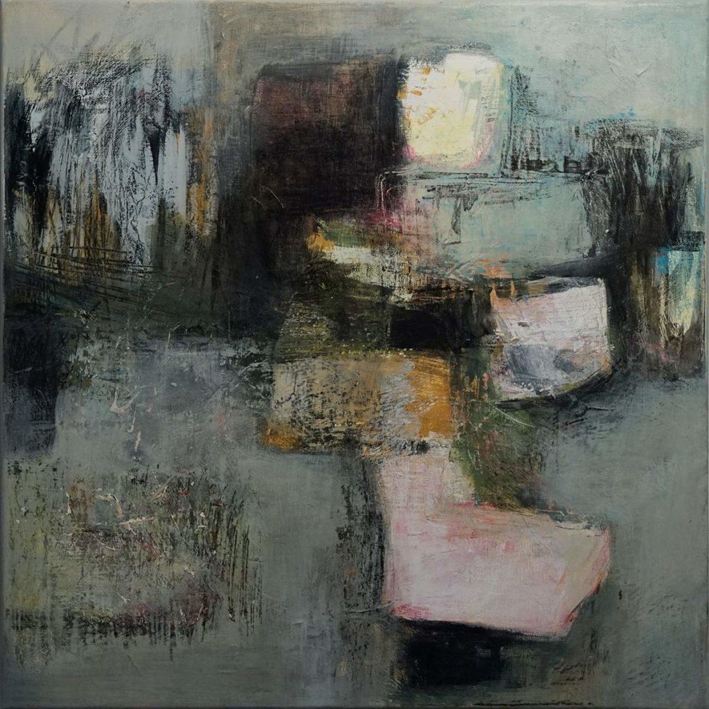 Mika Clemens - Abstracts Triptych part 2 Mischtechnik 50x50cm