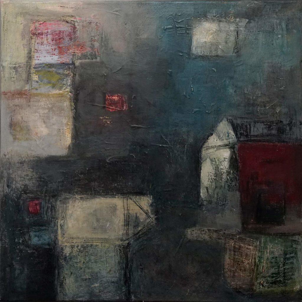 Mika Clemens - Abstracts Triptych part 1 Mischtechnik 50x50cm