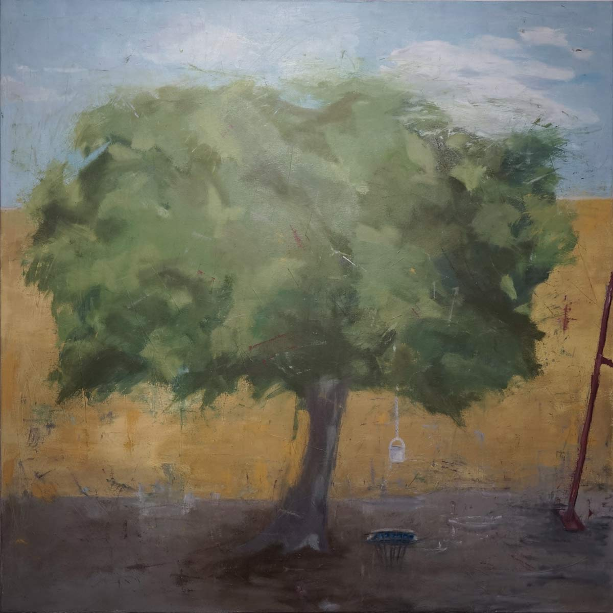 Shirin Ashkari - Kindheitslabor - oilpainting 118x118 cm